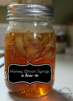 Honey onion cough syrup