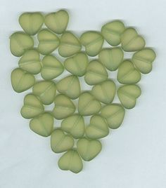 12mm Green Frosted Acrylic Heart Beads Set of 30 by RockNBeads, $2.85