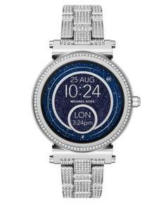 Michael Kors Access Women's Sofie Stainless Steel Bracelet Touchscreen Smart Watch 42mm - Silver