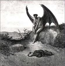 Lucifer and the Serpent - Gustav Dore