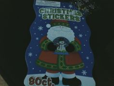 GREAT BOOK OF CHRISTMAS STICKERS-80 IN ALL-EVERY PAGE IS DIFFERENT-GREAT GIFT/STOCKING STUFFER