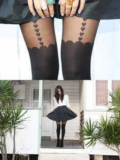 cute heart tights!