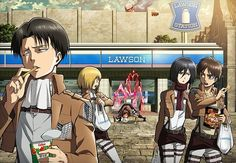 """I love how Mikasa is like """"Can I have one?"""" And Eren's just like """"Getcher own…"""