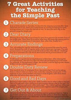 Teaching the simple past tense