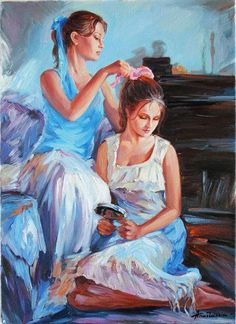 impressionism mother daughter painting - Google Search