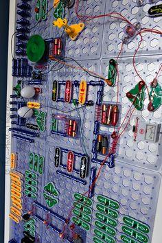 Elenco Snap Circuits Wall Board #diy #storage