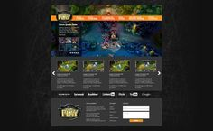 A website design I did for a League of Legends tournament site based in the US.