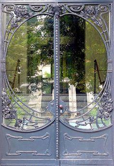 Art Noveau Doors - silver gray