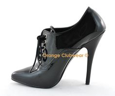 Pleaser Domina 460 Sexy Oxfords High Heels Pumps Shoes | eBay