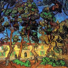 """""""Trees In The Garden"""" by Vincent Van Gogh (High Resolution)."""