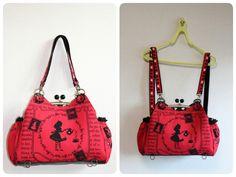 あおりがま口 リュックタイプ|メグドットエム Diy Clutch, Clutch Purse, Coin Purse, Frame Purse, Unique Bags, Couture, Handmade Bags, Beautiful Bags, Bag Making