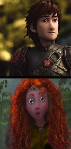 Merida's reaction to Hiccup's appearance. Hahaha, I love it! This is from deviantart. I didn't make this.