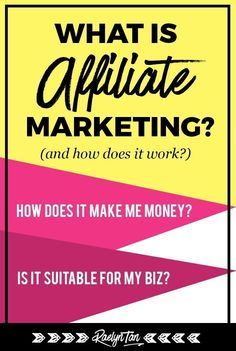 What is affiliate marketing and how does it work? Affiliate marketing tips for b Marketing Program, Affiliate Marketing, Internet Marketing, Online Marketing, Content Marketing, Digital Marketing, Media Marketing, Make Money Blogging, How To Make Money