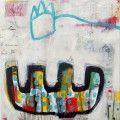 Billedkunstner Charlotte Eland - farverige og sprudlende malerier