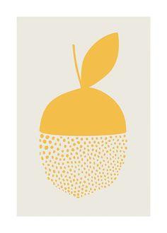 Yellow Dotted Citrus Plakat