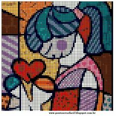 Abstract Intarsia Knitting, Knitting Charts, Tapestry Crochet, Tapestry Weaving, Needlepoint Patterns, Counted Cross Stitch Patterns, Plastic Canvas Crafts, Plastic Canvas Patterns, Pixel Crochet