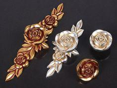 Dresser Knobs Drawer Knob Pulls Pull Handles Rose by ARoseRambling, $4.50