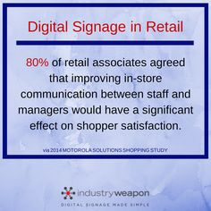 #industryweapon #digitalsignage #stats #statistics #dooh #digital #signage #retail #shoppers #consumers #customers #brands #businesses #companies #communication #staff #managers #shop #mall #stores #instore #store
