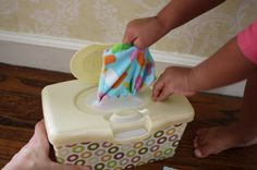 DIY flannel face wipes for travel!  What a great Idea!