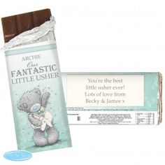 Personalised Me To You Male Wedding Milk Chocolate Bar