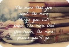 Books - I think this is Dr. Suess - Oh the Places You'll Go.