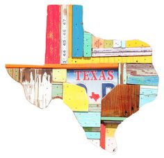 Texas with scrap wood. Love this!