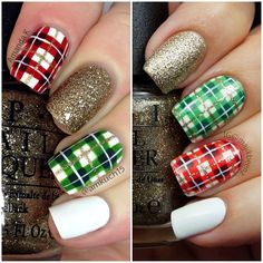 Plaid Nails by amkuch15 and majikbeenz on instagram