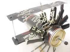Airplane Wind Chime Made From  Beer Cans ! so clever