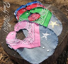 Pink Cowgirl Bib with Gold Star by BabyWilde on Etsy