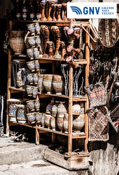 Typical #Moroccan #souvenir #shop in local street. Are you ready to sail to #Maghreb?  Reach #Morocco & #Tunisia with #GNV: http://www.gnv.it/en.html