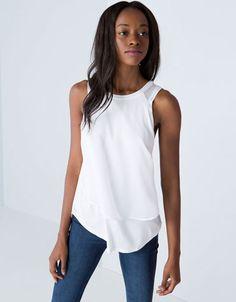 Bershka - T-shirt Bershka tecidos combinados SS14 (12.99)