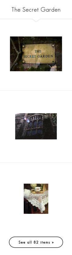 """""""The Secret Garden"""" by cherrygoodday ❤ liked on Polyvore featuring backgrounds, other, pictures, photos, pics, places, filler, scenery, phrase and quotes"""
