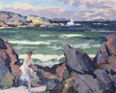 Francis Campbell Boileau Cadell, North Wind, Iona (The Bather)