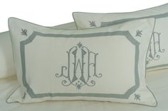Leontine Linens - Etienne Embroidered with Arch Applique