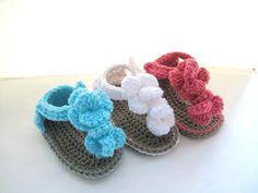 Crochet Baby Girl: Sandals