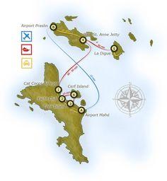 Verkehrsübersicht der Seychellen