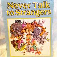 Never Talk to Strangers Vintage Kids Book by RetroVintageHeart