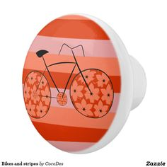 PROMO: 25% OFF ALL ORDERS Use Code: MEMORIALSALE      Spruce up #cabinets and #furniture with this beautiful #knobs. From the #kitchen to your or your child's bedroom, custom knobs are the perfect accent that can complement any #decor. #homedecor #stripes #bikes #bicycle #zazzle