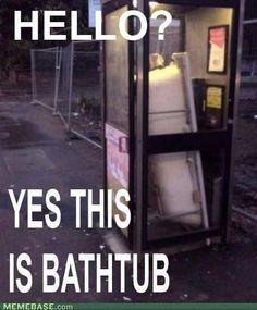 Bathtub phone booth