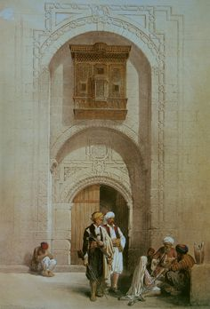 David Roberts Entrance To A Private Mansion.jpg