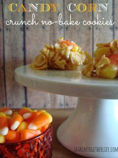 Candy corn crunch no-bake cookies   shakentogetherlife.com