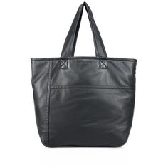 Victoria Beckham Sunday Large Leather Bag ($1,150) ❤ liked on Polyvore featuring bags, handbags, shoulder bags, black, shoulder bag purse, leather shoulder bag, genuine leather shoulder bag, genuine leather handbags and top handle purse