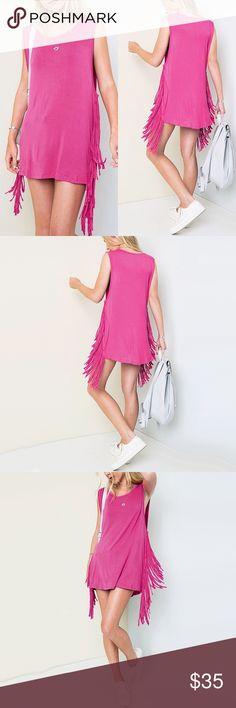 "Bohemian Fringe Laid Back Shirt/ Dress ❤️ BUNDLES  ❌ NO TRADES  ❌ NO Lowballing!   • Wide cut armpit • 95% Rayon, 5% Spandex • Dress/ Shirt  * MEASUREMENTS: • SIZE: SMALL - Length: 28.25"" Approx • • SIZE: MEDIUM - Length: 28"" Approx • • SIZE: LARGE - Length: 28"" Approx Tops Tunics"