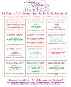 December 2013 Specials! Day Spa Specials, Medium Bob Hairstyles, Farmer's Daughter, Thing 1, December 2013, 12 Days Of Christmas, Vegan Butter, Spa Day, Farmers Market