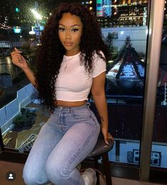 Mscoco Loose Deep Wave 250 density wigs Lace Front Human Hair Wigs For Black Women Pre Plucked Lace Wigs Brazilian Lace Front Wigs With Baby Hair Swag Outfits, Cute Casual Outfits, Girl Outfits, Fashion Outfits, Dress Outfits, Moda Streetwear, Streetwear Fashion, Pretty Black Girls, Beautiful Black Women