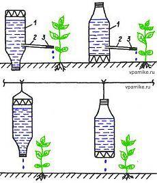 Простые системы капельного полива растений из пластиковых бутылок и не только | vparnike.ru