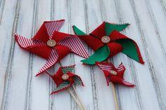 Whimsical Christmas Decorations Pinwheels by HopeFarmHunnyB