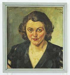 """Tadeusz Walkowski - """"Portret Zofii Podlaszewskiej"""", 1933 r. Olej, płótno, 51×48 cm."""