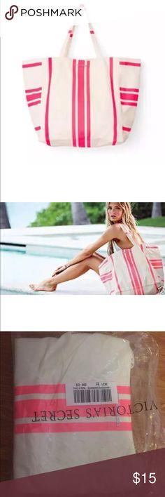 Victoria's Secret striped beach canvas bag new New in bag. Victoria's Secret Bags Totes
