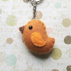 felt bird keychain, awe...